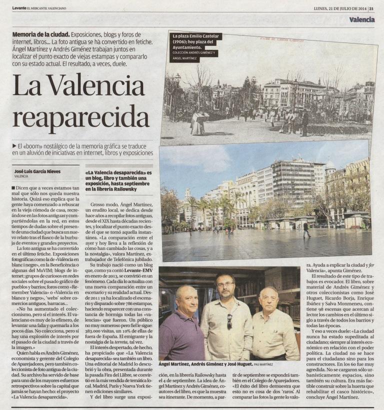 La valencia desaparecida temporae - Periodico levante el mercantil valenciano ...