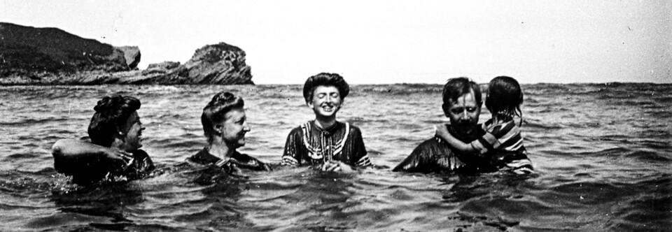 Familia Klimsch. Castrillón (Asturias), 1907.