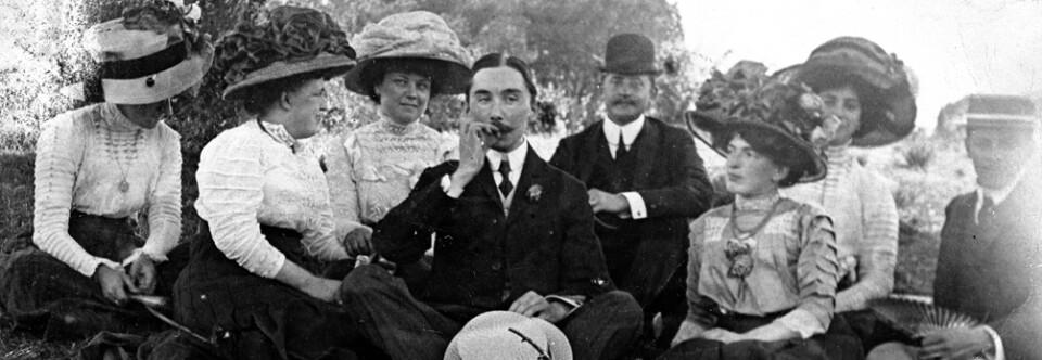 Familia Klimsch. El Pardo (Madrid), 1913.