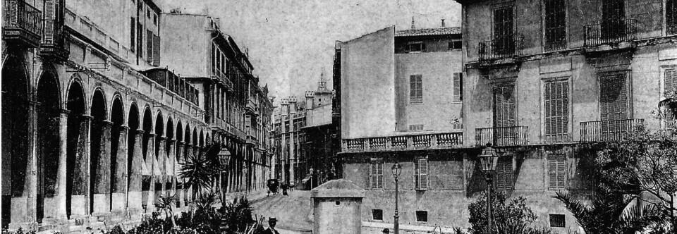 Calle Palau Reial. Palma, hacia 1918.